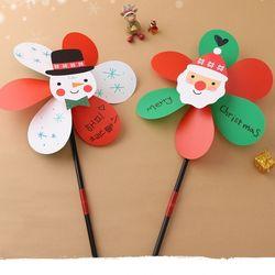 성탄바람개비(4개)크리스마스만들기재료눈사람산타