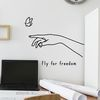 fly for freedom 감성 일러스트 인테리어 스티커 large