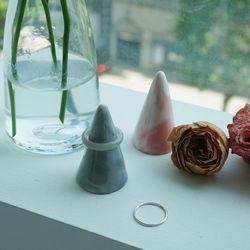 마블 대리석 반지 링 주얼리 홀더 거치대 2color