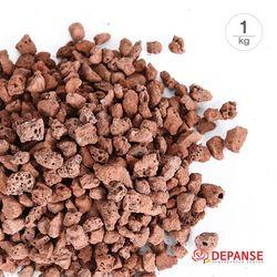 [데팡스] 화산사 레드 화분 원예 마감재 장식돌 가벼운돌 1kg