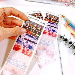 40x10mm 감성사진 ver.2 데코 스티커 (9 Cut Sticker) 4매
