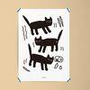 사고치는 고양이 M 유니크 디자인 인테리어 포스터 A3(중형)