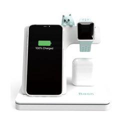 라온 3in1 고속 무선충전기 애플 워치 아이폰 에어팟 삼성