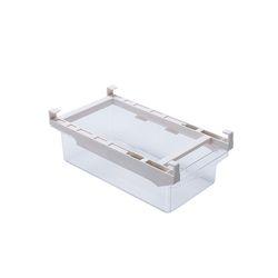 투명 냉장고 정리선반 트레이 레일형 (소) 1개