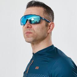 편광 미러렌즈 풀 프레임 A-Fei 자전거고글 블루