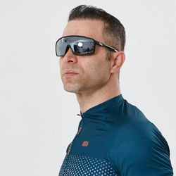 편광 미러렌즈 풀 프레임 A-Fei 자전거고글 매트블랙
