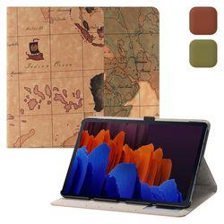 갤럭시탭S7 플러스 12.4 2020 T970 지도 케이스