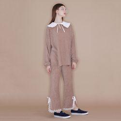 Lace Banding Pants [Beige]