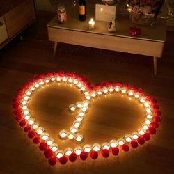 led촛불과 장미꽃세트