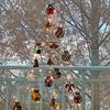 크리스마스트리 만들기 키트 셀로판지놀이 전구장식 벽트리