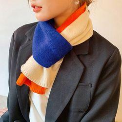 겨울 패션 목보온 쁘띠머플러 따뜻한 쓰리포인트 니트머플러