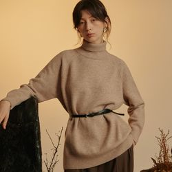 BASIC PULLOVER KNIT (BEIGE)