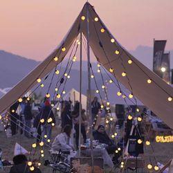 감성캠핑 크리스마스 LED조명 파우치포함 앵두전구 2M