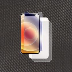 아이폰12 강화유리+무광 카본 전신후면보호필름 각1매