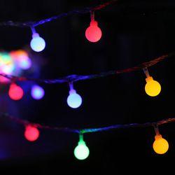 감성캠핑 크리스마스 LED조명 파우치포함 앵두전구 10M
