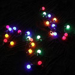 감성캠핑 크리스마스 LED조명 파우치포함 왕앵두전구 5M