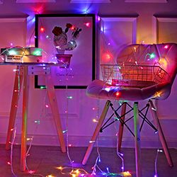 감성캠핑 크리스마스 LED조명 파우치포함 좁쌀전구 5M