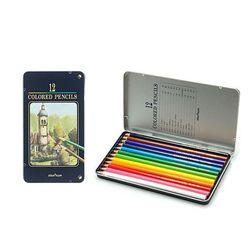 컬러링 채색 미술용품 문화 색연필 틴케이스 12색
