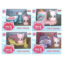 고양이 피규어 아기고양이 캣츠홈 장난감