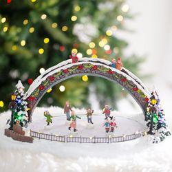 크리스마스 LED 오르골(특대-스케이트장)