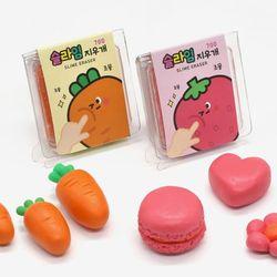 문구용품 당근 딸기 슬라임 지우개