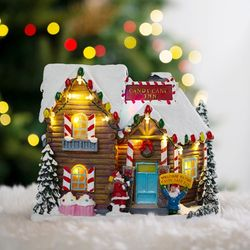 크리스마스 LED 오르골(쿠키하우스)
