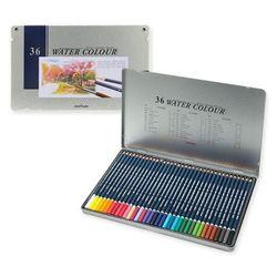 문화 전문가용 36색 수채화 색연필 틴케이스