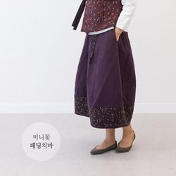 3021 여성 미니꽃 패딩 치마 1color