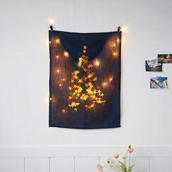 크리스마스 패브릭 포스터 별트리 LED 세트 월데코