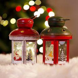 크리스마스 양철 캔들 (원형)