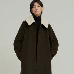 PREMIUM SINGLE WOOL COAT (KHAKI BROWN)