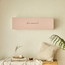 자수 벽걸이 에어컨커버 모먼트 핑크 특대