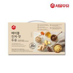 [무료배송] 서울우유 메이플진저잣두유 180ml 20팩 빨대포함