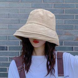 플리니 코듀로이 골덴 벙거지 모자