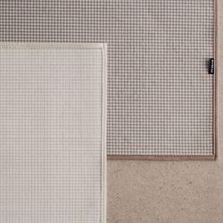 크림 모카 체크 극세사 사계절 러그 100x150 2colors