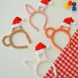크리스마스 뽀글이 토끼 곰 머리띠
