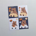 [영이의숲] 이불 속 꽃카 리무버블 스티커