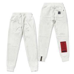 MARBLE HEAVY SWEAT JOGGER PANTS WHITE