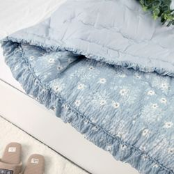 라비나 시어서커 여름 이불 150x205 블루