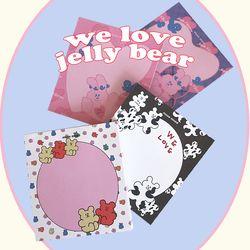 we love jelly bear memo pad 메모지