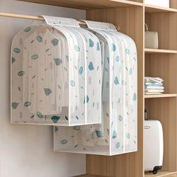 PEVA 대용량 행거 옷커버 코트형 나뭇잎/커버 케이스