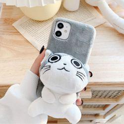 아이폰 se2 7 8 플러스 고양이 캐릭터 거치 털 케이스
