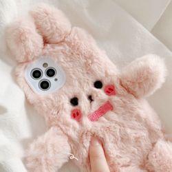 아이폰 se2 7 8 플러스 토끼인형 카메라보호 털케이스