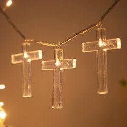 LED 전구캡 십자가 9cm(4개입+1개) TRLECV
