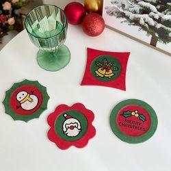 [한지공예] 크리스마스 큐트 티 코스터 DIY 키트(4종 1set)