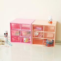플리징 Mini Pink Drawer 미니 핑크 6칸서랍