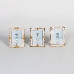 금도금 미니액자 3종 세트 디아콜랙션 2.5x3.5 사진사이즈
