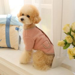 다솜 체크 양양이 후리스 강아지겨울옷