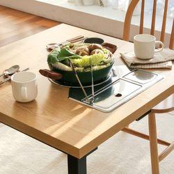 포홈 리브 2인 불판 식탁