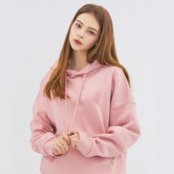 SMALL MONO HOODIE-PINK
